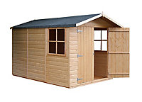 10x7 Guernsey Apex roof Shiplap Wooden Shed With assembly service