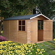 10x7 Guernsey Apex roof Shiplap Wooden Shed With assembly service Base included