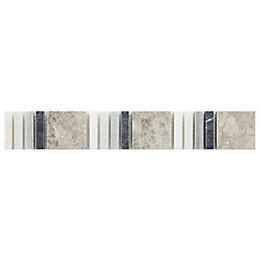 Black, white & grey Mosaic Marble Border tile,