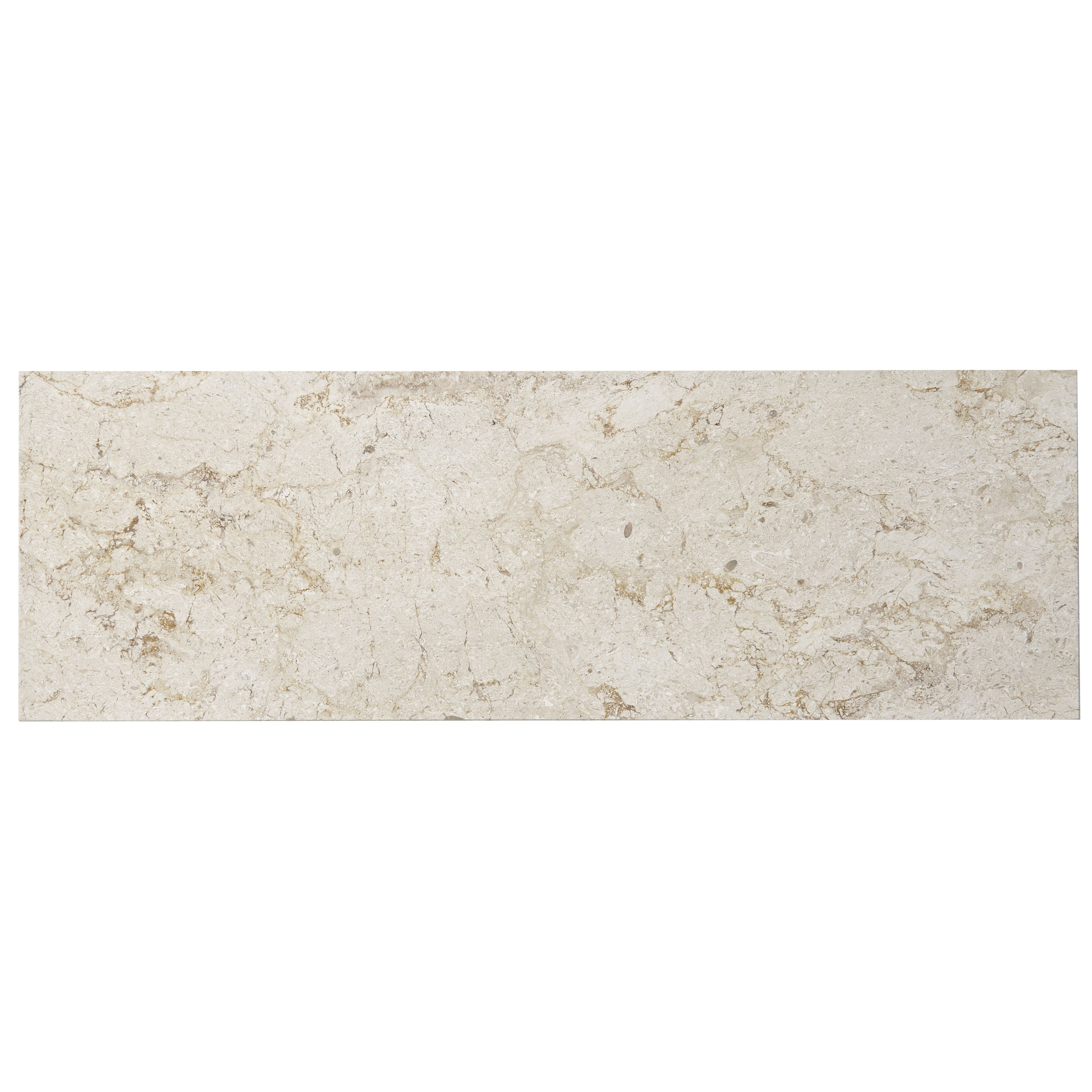 Urban White Stone Effect Ceramic Wall Floor Tile Pack: Natural Stone Cream Marble Effect Marble Wall & Floor Tile