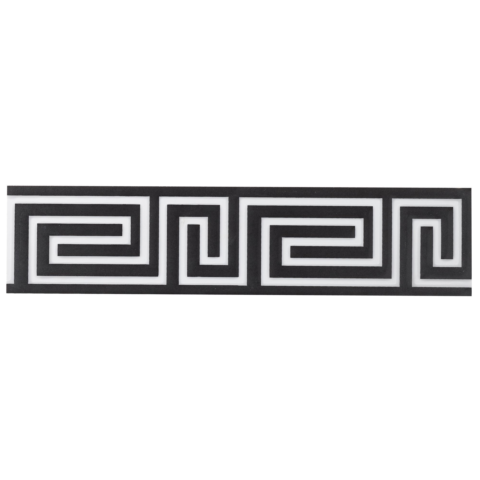 Greek key Black Ceramic Border tile, (L)300mm (W)70mm | Departments ...
