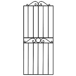 Blooma Steel Swirl top wide gate (H)1.8m (W)0.81