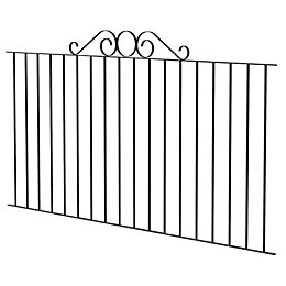 Blooma Swirl Top Steel Swirl Top Fence (L)89mm