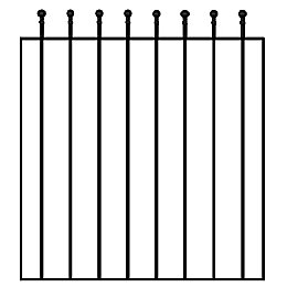 Blooma Steel Wide Gate (H)0.9M (W)0.81 M