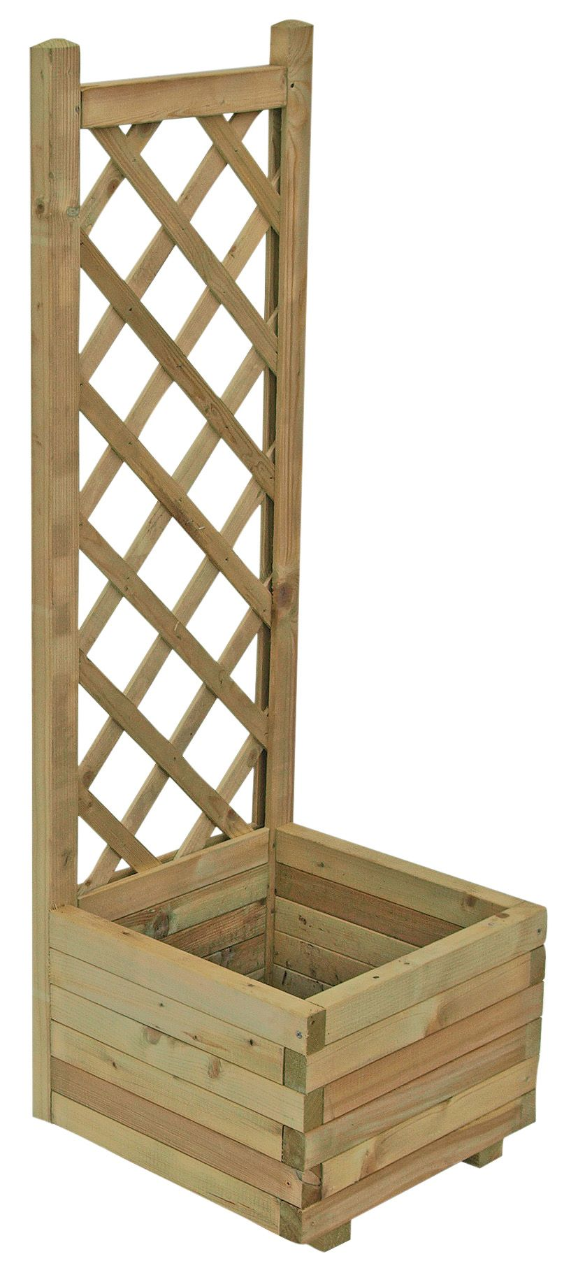 Grow Your Own Wooden Pale Green Planter H 1220mm