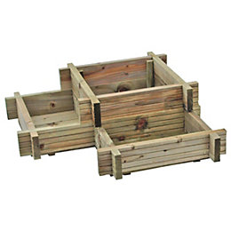 Blooma Timber Corner planter (H)280mm (W)960mm