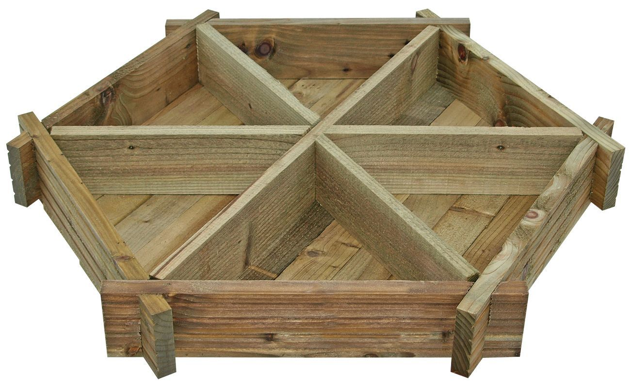 Blooma Timber Herb Wheel Planter (H)140mm (W)1.07m | Departments | DIY at  B&Q