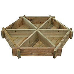 Blooma Timber Herb wheel planter (H)140mm (W)1070mm
