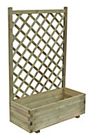 Grow your own Wooden Pale green Planter (H)1220mm (Dia)1380mm