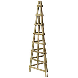 Timber 3 Sided Obelisk Support Trellis (H)1.89M(W)0.48 M