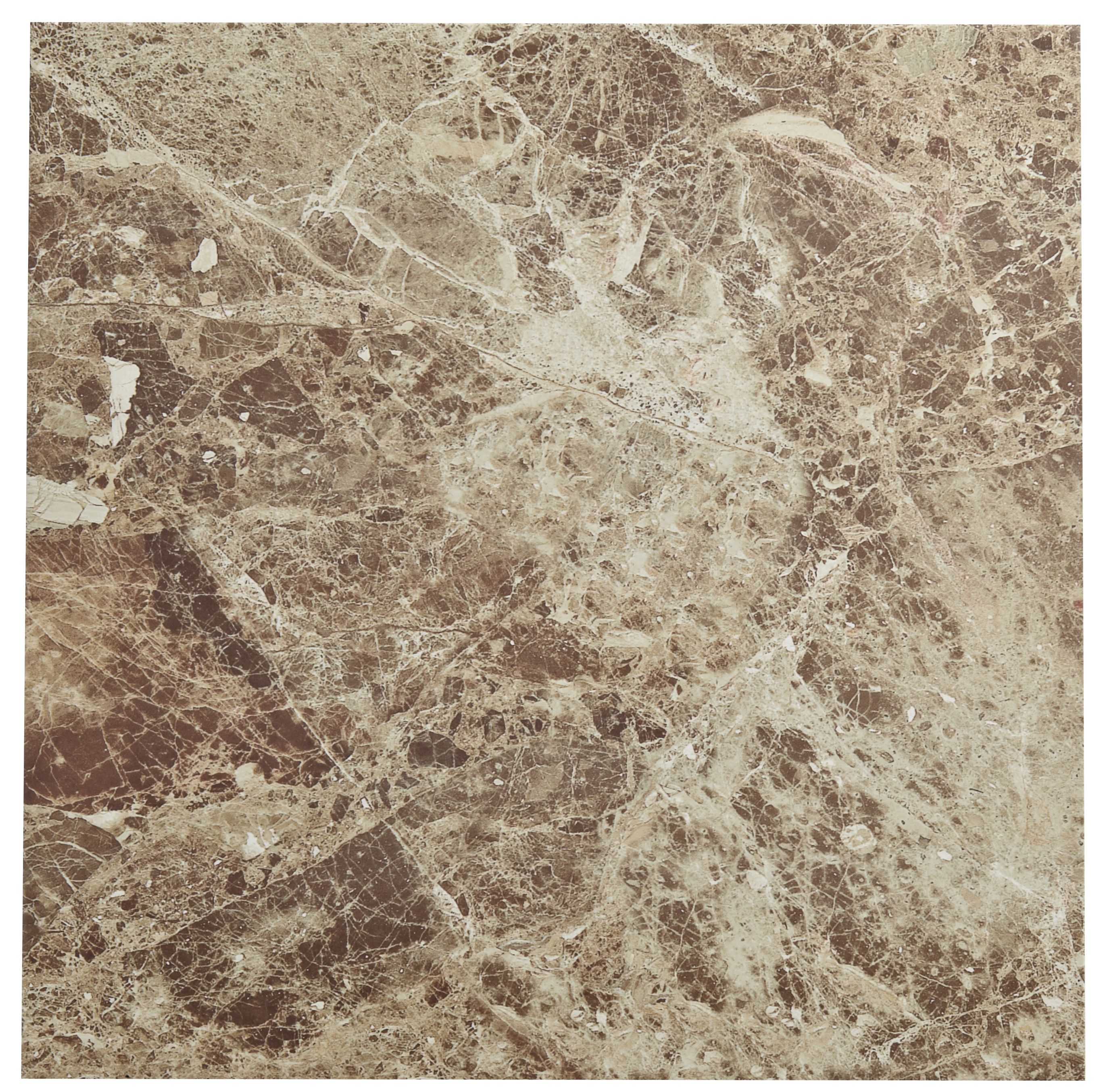Illusion Emperador Marble Effect Stone Ceramic Floor Tile