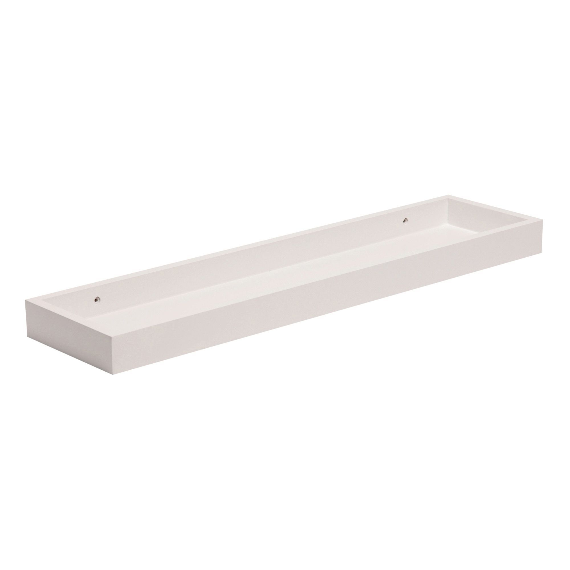 White Matt Storage Shelf (L)600mm (D)150mm | Departments | DIY At Bu0026Q.