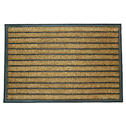 Diall Dominator Maxi Black & Natural Coir Door
