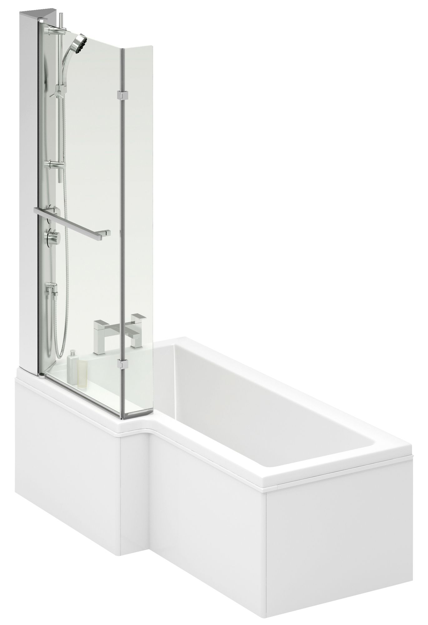 Cooke Lewis Adelphi Lh Acrylic L Shaped Shower Bath L