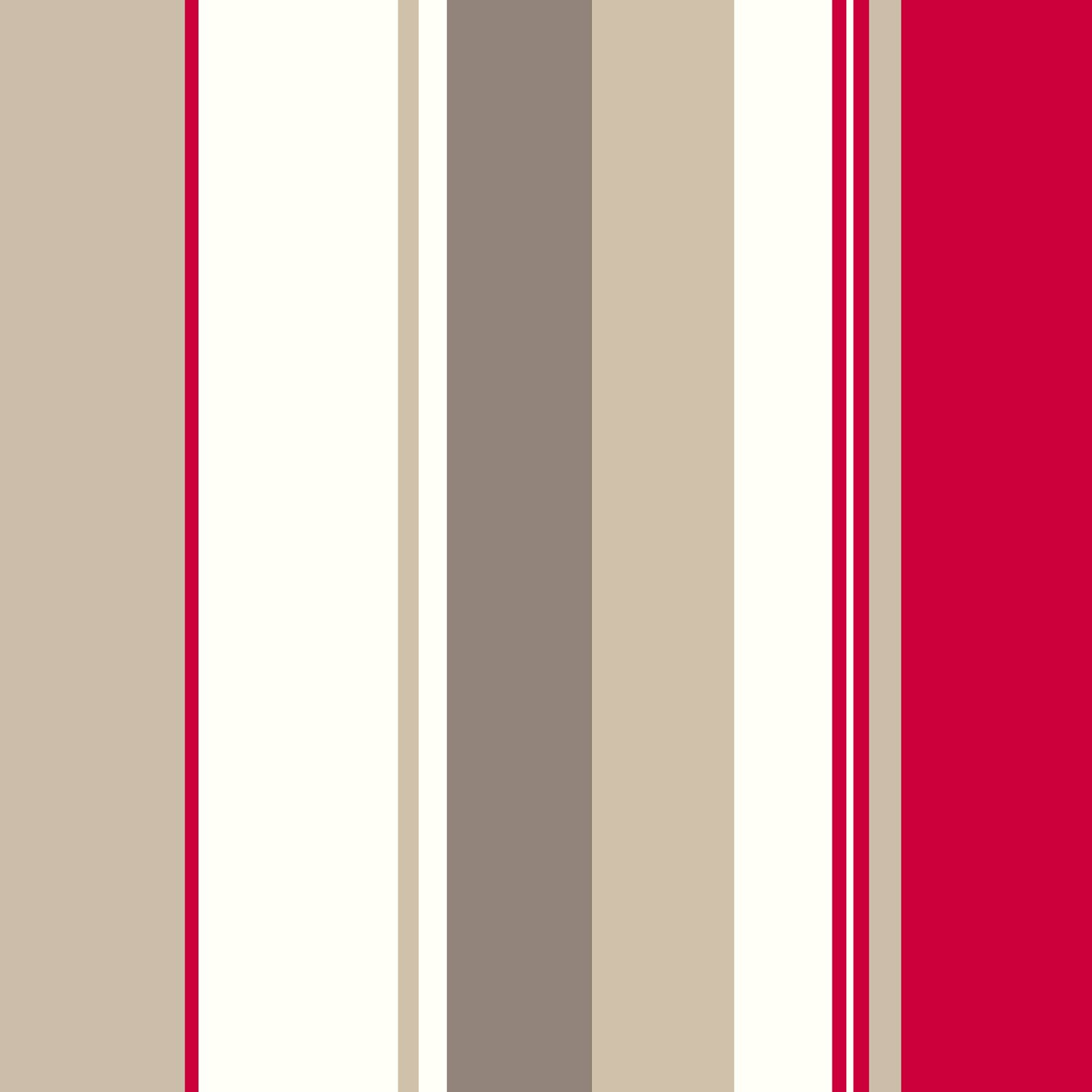 Colours Kensington Red Stripe Wallpaper Departments