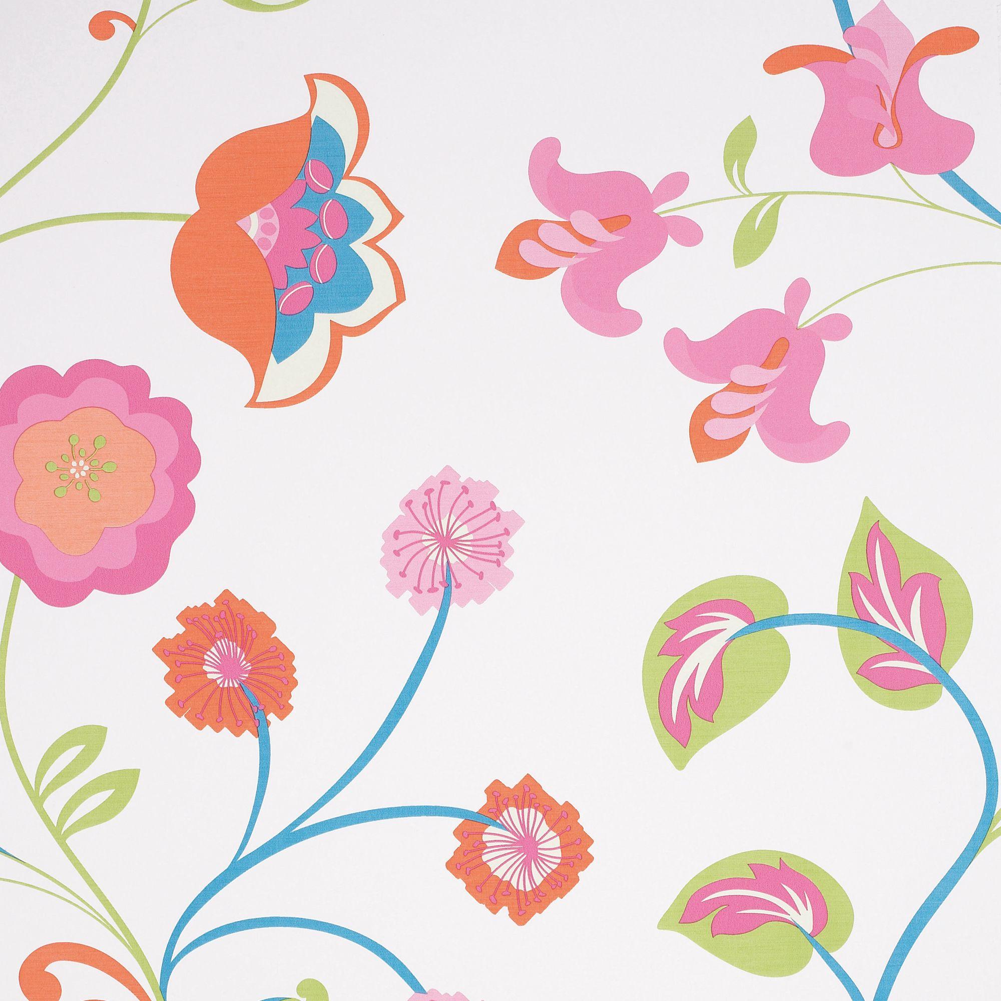 . Colours Summer garden Floral Wallpaper   Departments   DIY at B Q