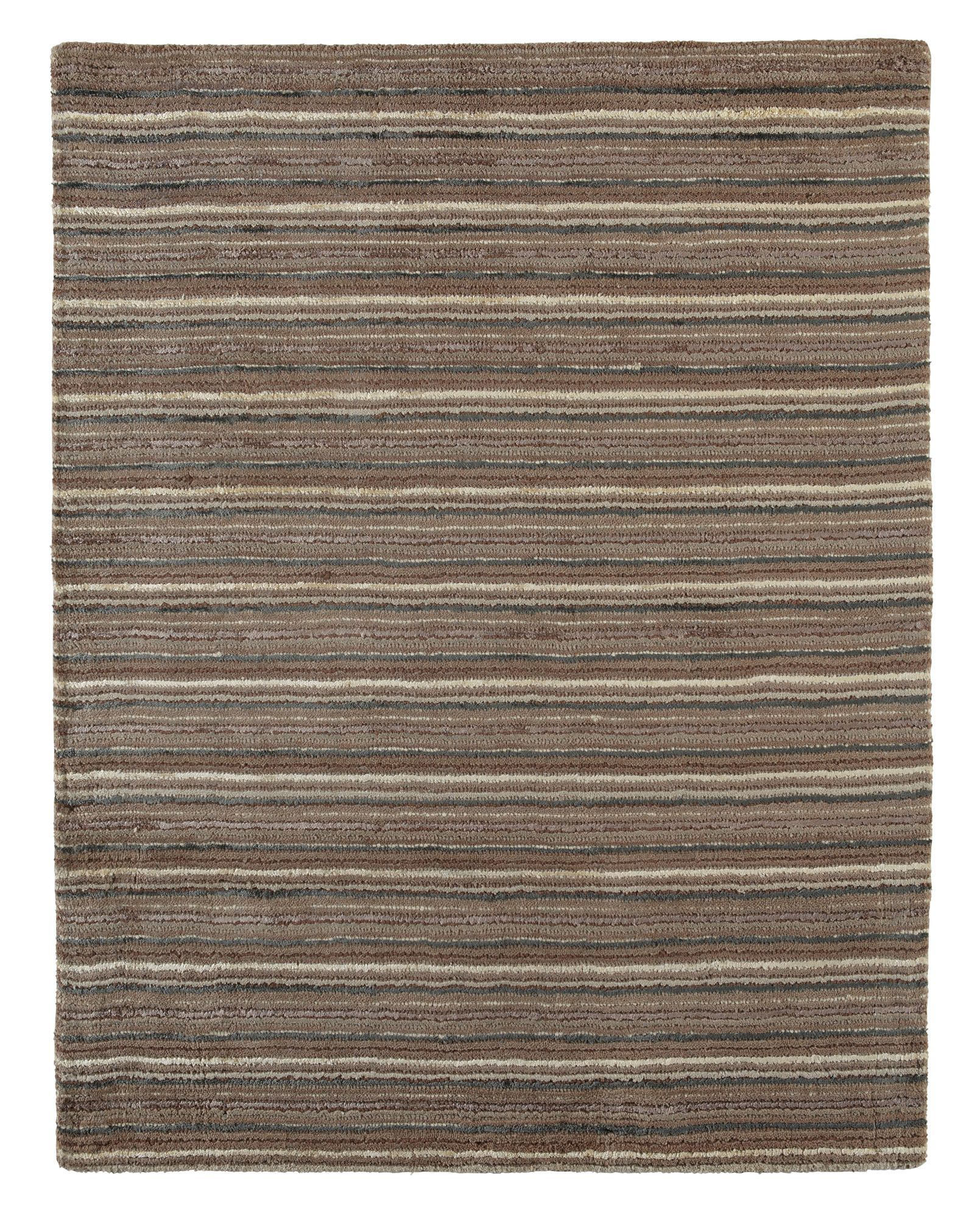 Colours Jasola Grey Amp Taupe Striped Rug L 1 5m W 0 8 M