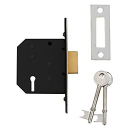 Diall 64mm Polished Chrome 3 Lever Deadlock