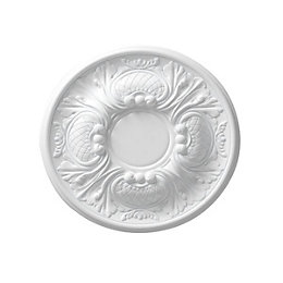 Colours Nayak White Ceiling Rose (Dia)300mm