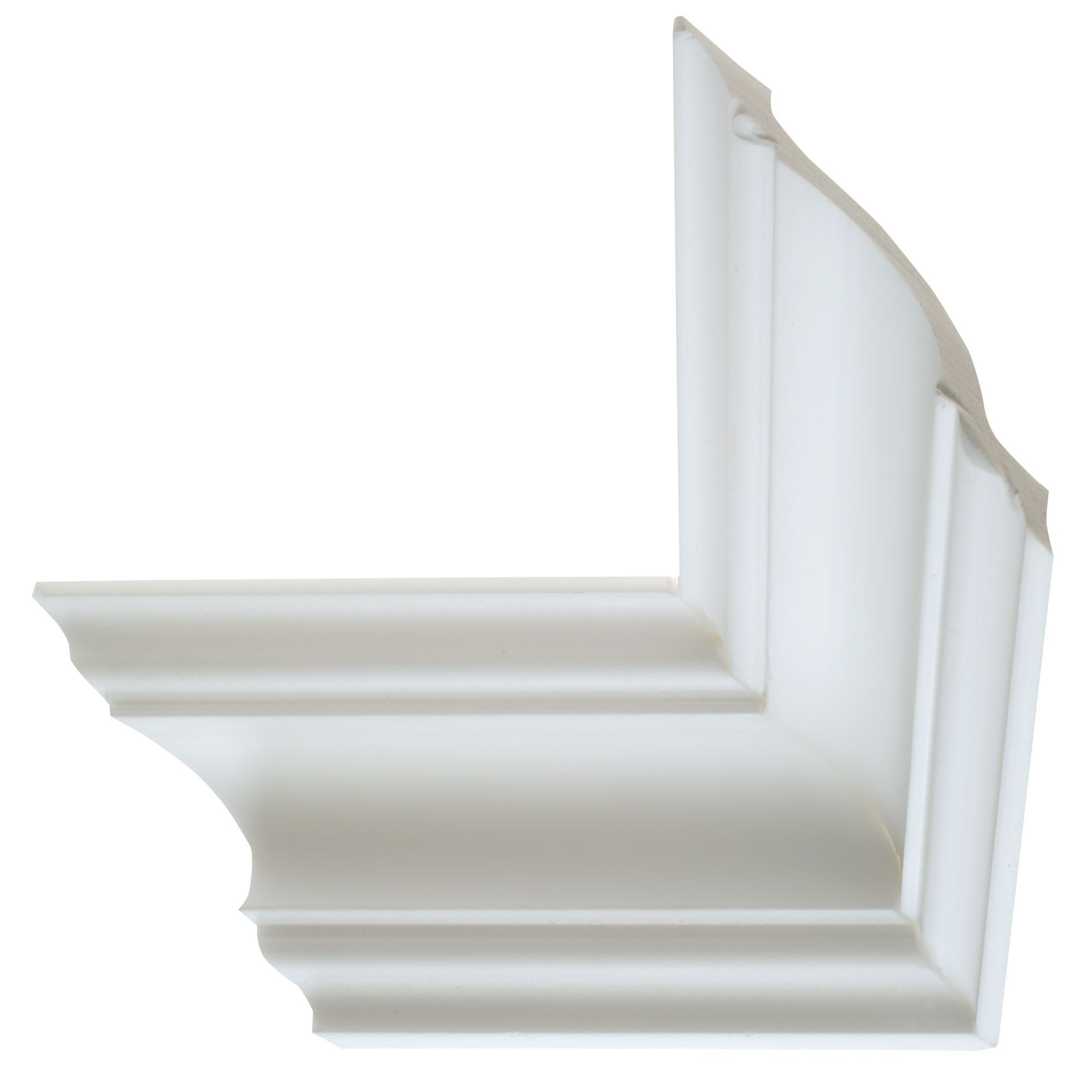 Colours Nayak Traditional Fluted Profile Polystyrene Internal External Coving Corner L 180mm W 110mm Pack Of 2 Departments Diy At B Q