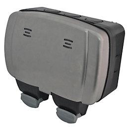 Diall 13A 2-Gang External Socket