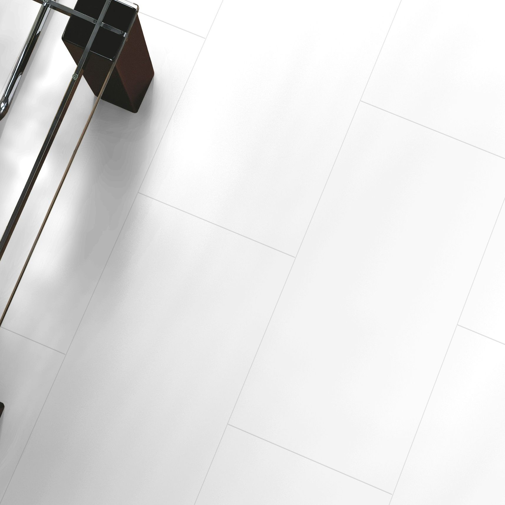 Falsetto White Tile Effect Laminate Flooring 2 M Pack Departments