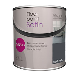 Colours Black ash Satin Floor paint2.5L