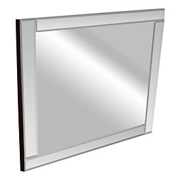 Colours Art Deco Frameless Square Mirror (H)360mm (W)
