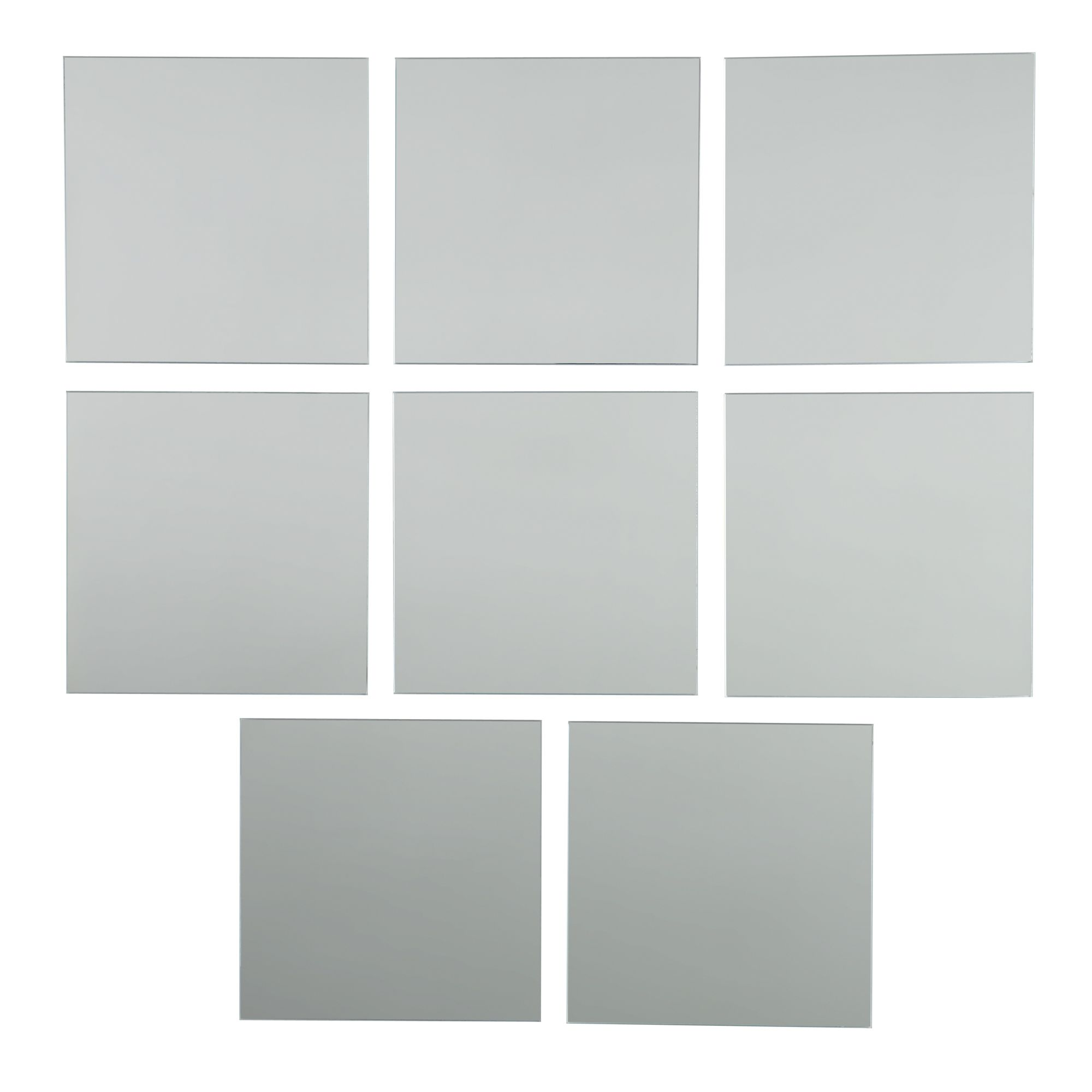 Colours Frameless Square Mirror (H)150mm (W) 150mm | Departments ...