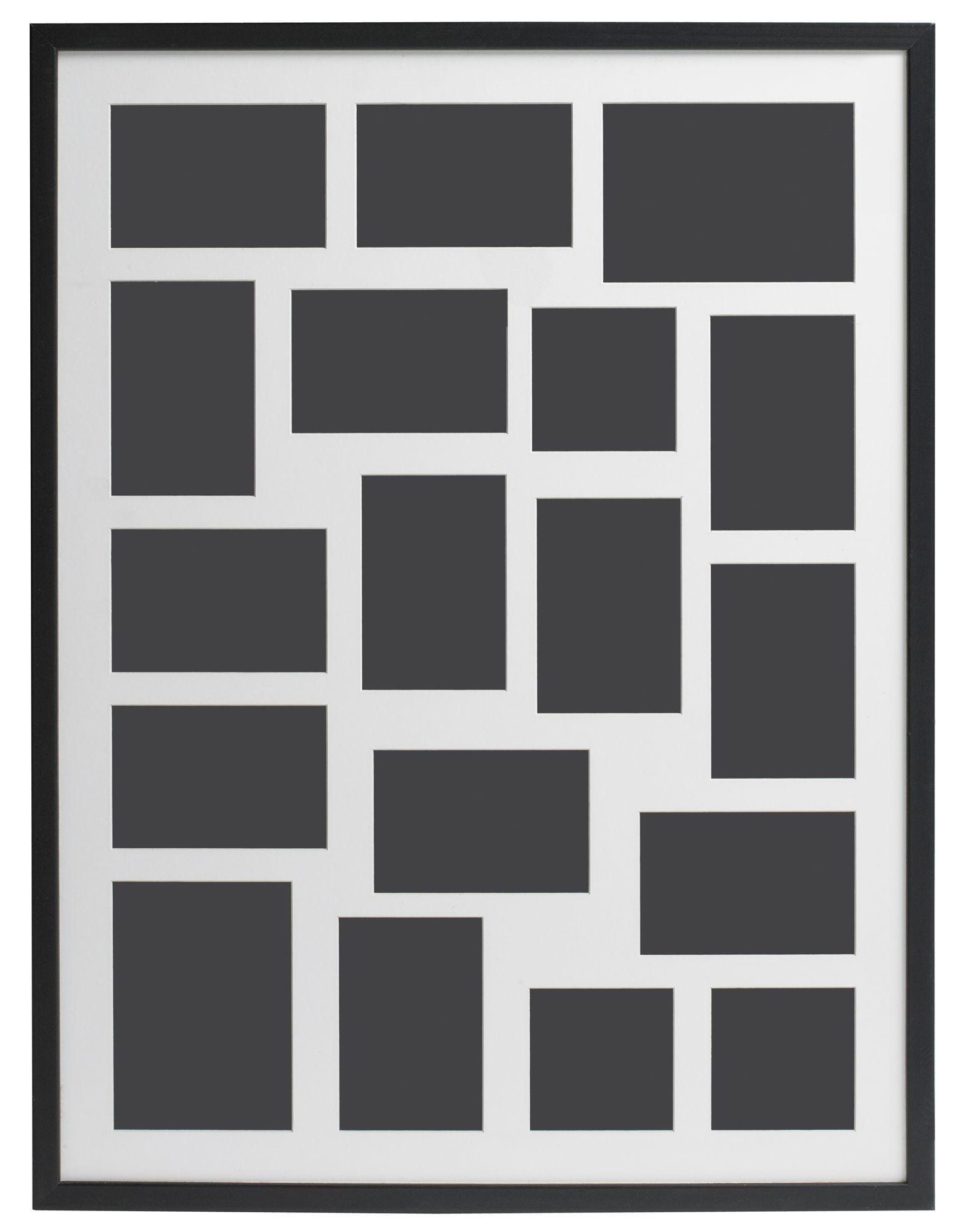 Black Multi Aperture Wood 18 Aperture Picture Frame (H)82 ...