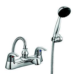 Cooke & Lewis Wave Chrome Bath shower mixer