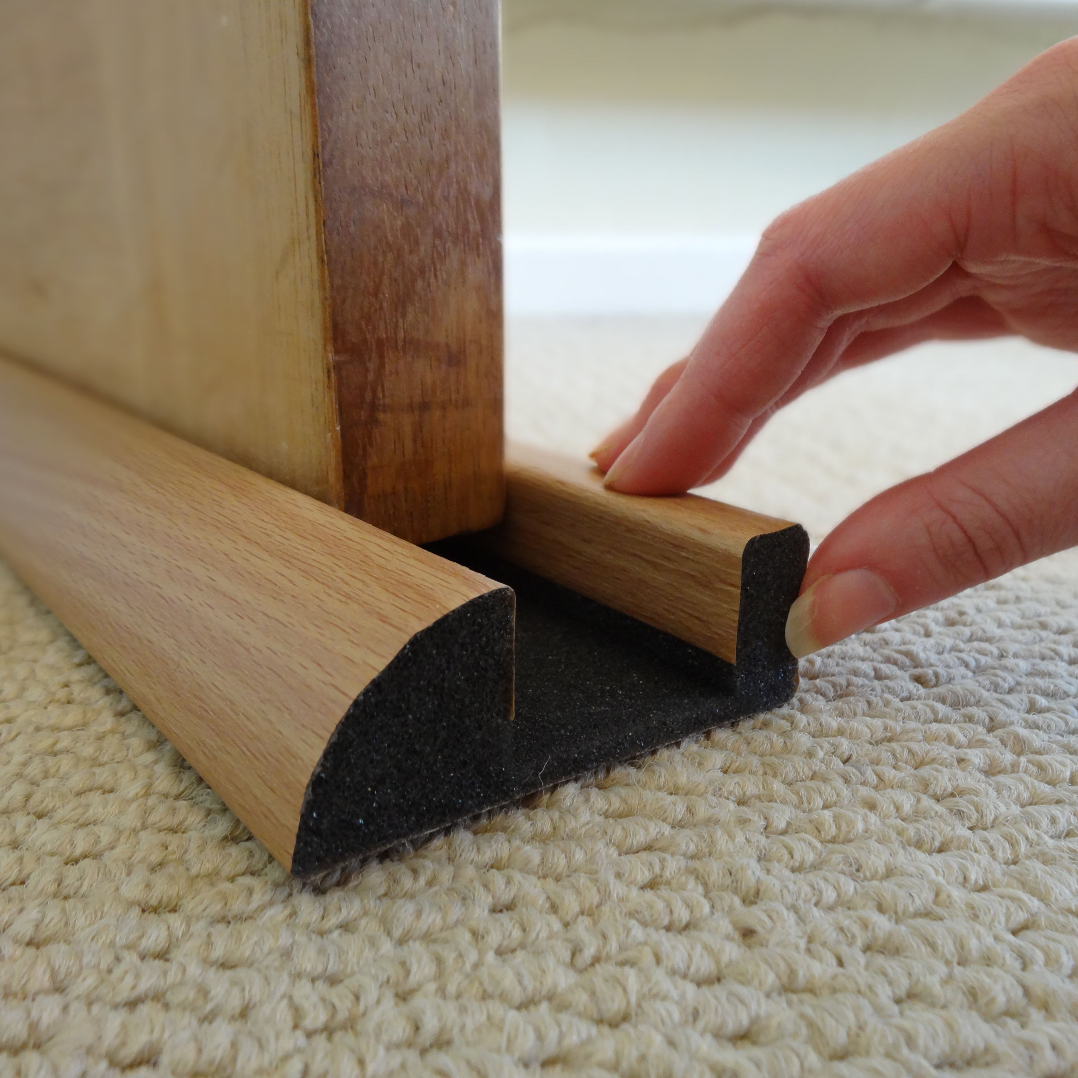 Diall foam pvc covering self adhesive draught excluder for Door draught excluder