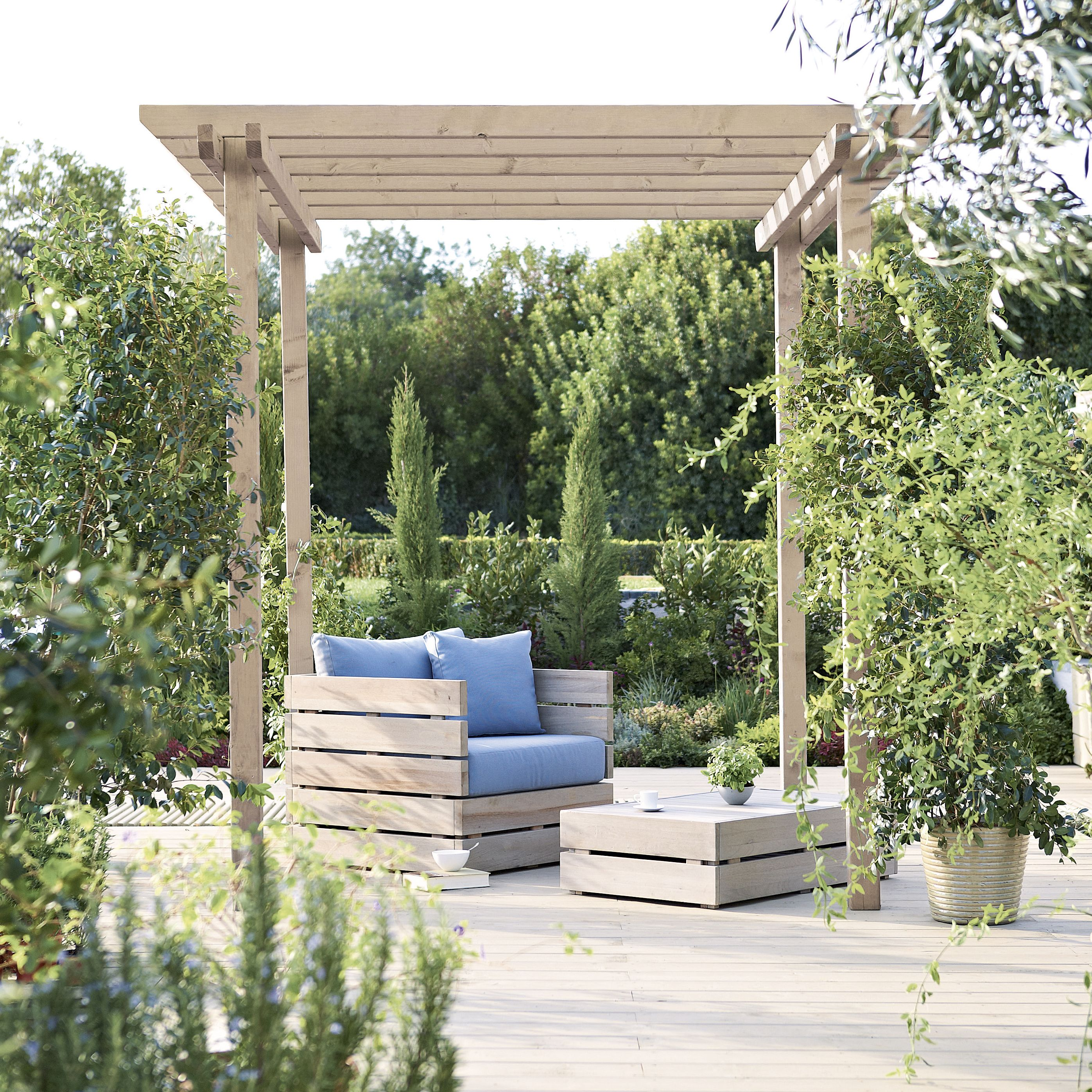 Blooma rafter garden pergola departments diy at b q for French style gazebo