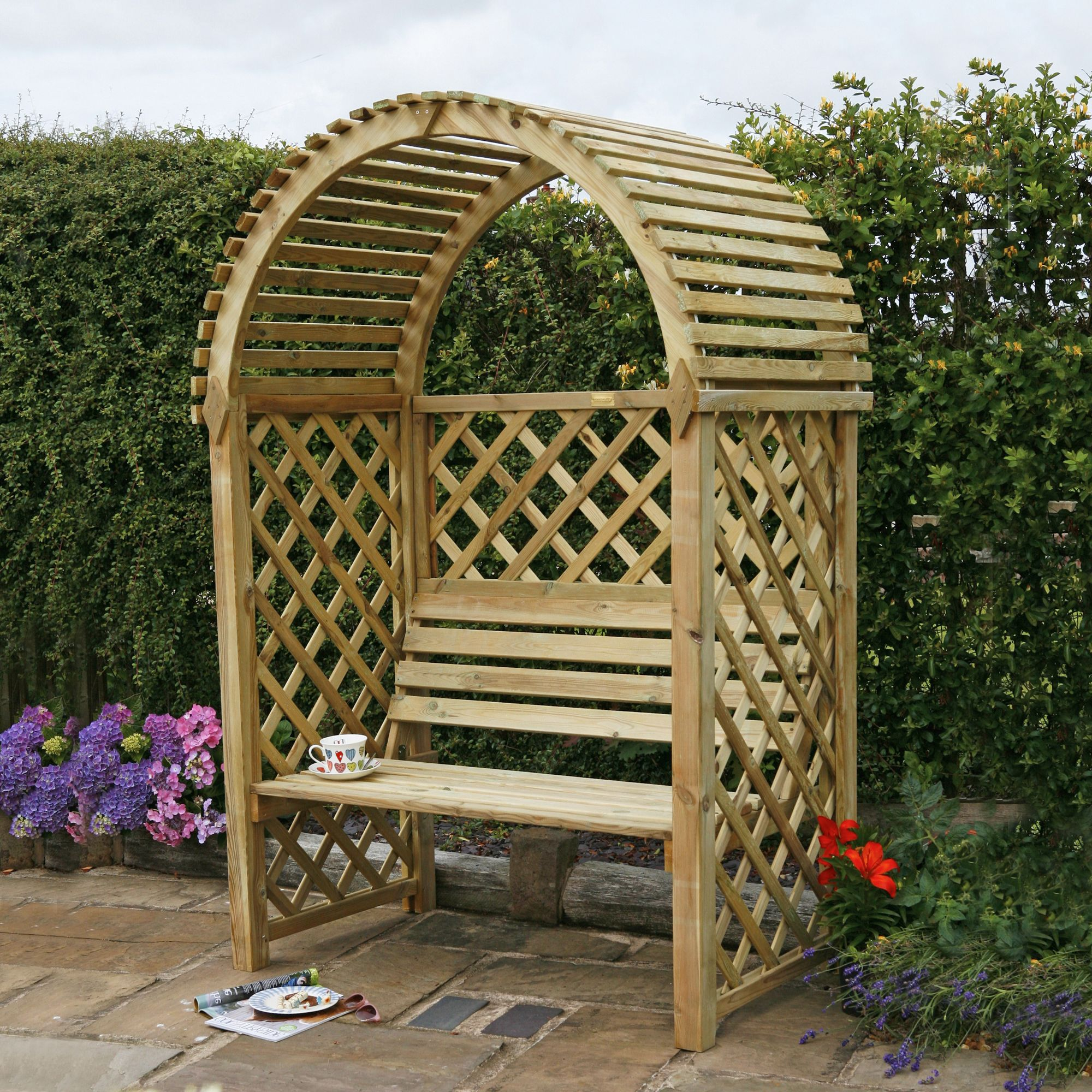 Blooma Softwood Round Top Arbour | Departments | DIY at B&Q
