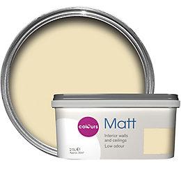 Colours Standard Soft lemon Matt Emulsion paint 2.5L