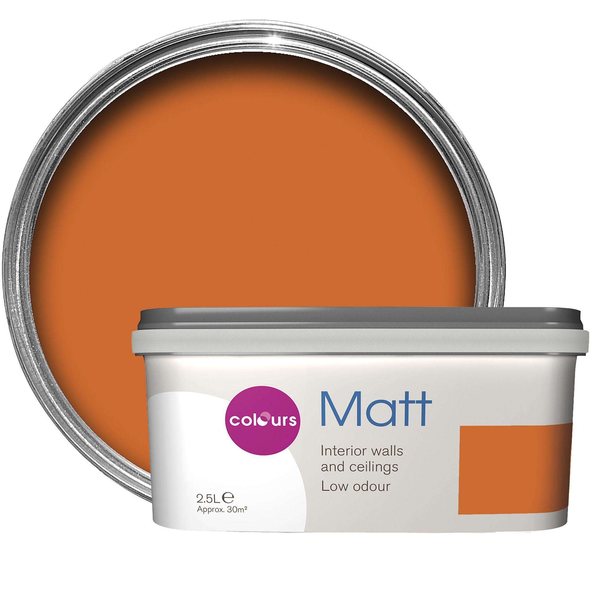 Colours Standard Orange Matt Emulsion Paint 2 5l Departments Diy At B Q