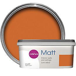 Colours Standard Orange Matt Emulsion Paint 2.5L
