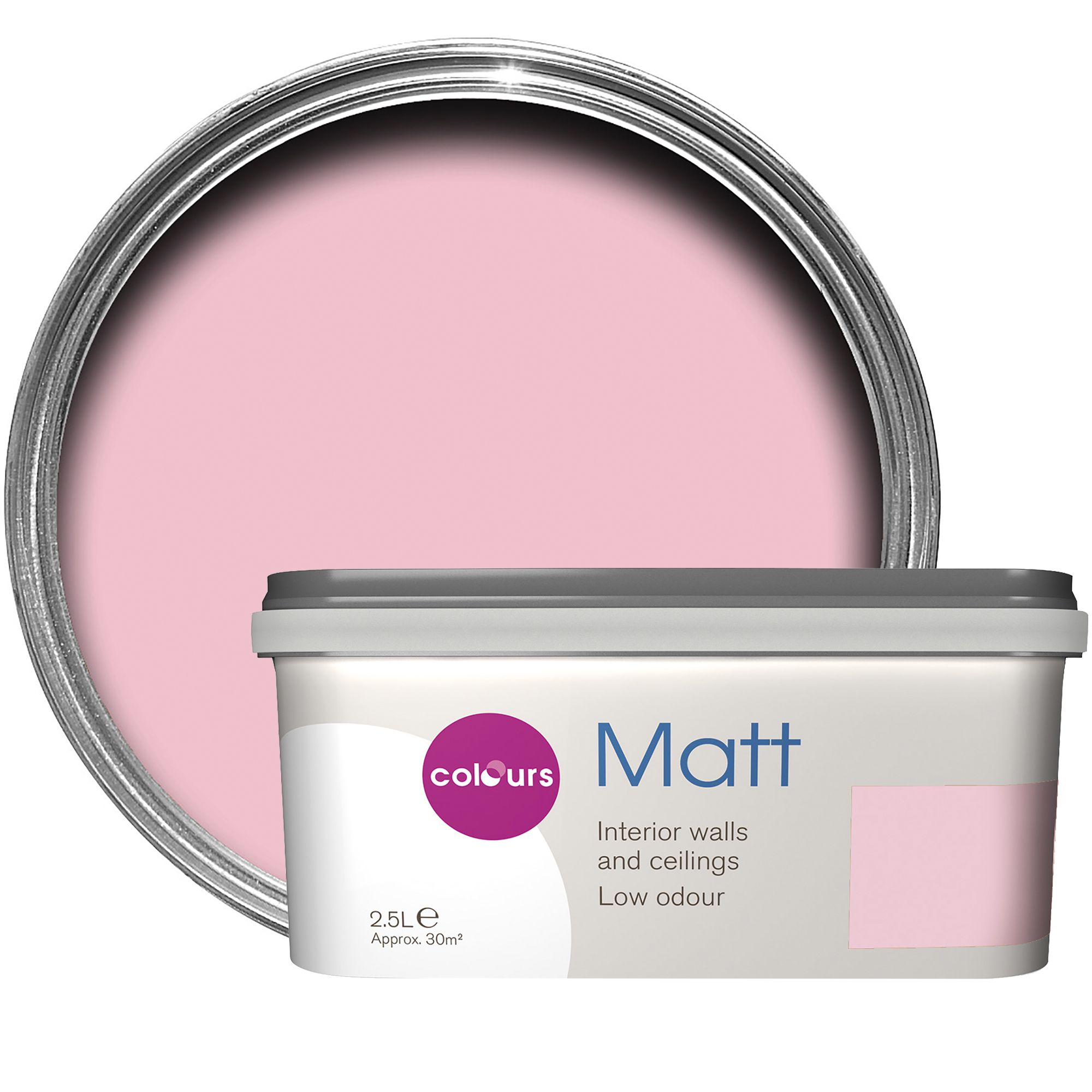 Colours Standard Pink pink Matt Emulsion paint 2.5L | Departments ...