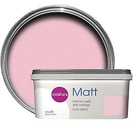 Colours Standard Pink pink Matt Emulsion paint 2.5L