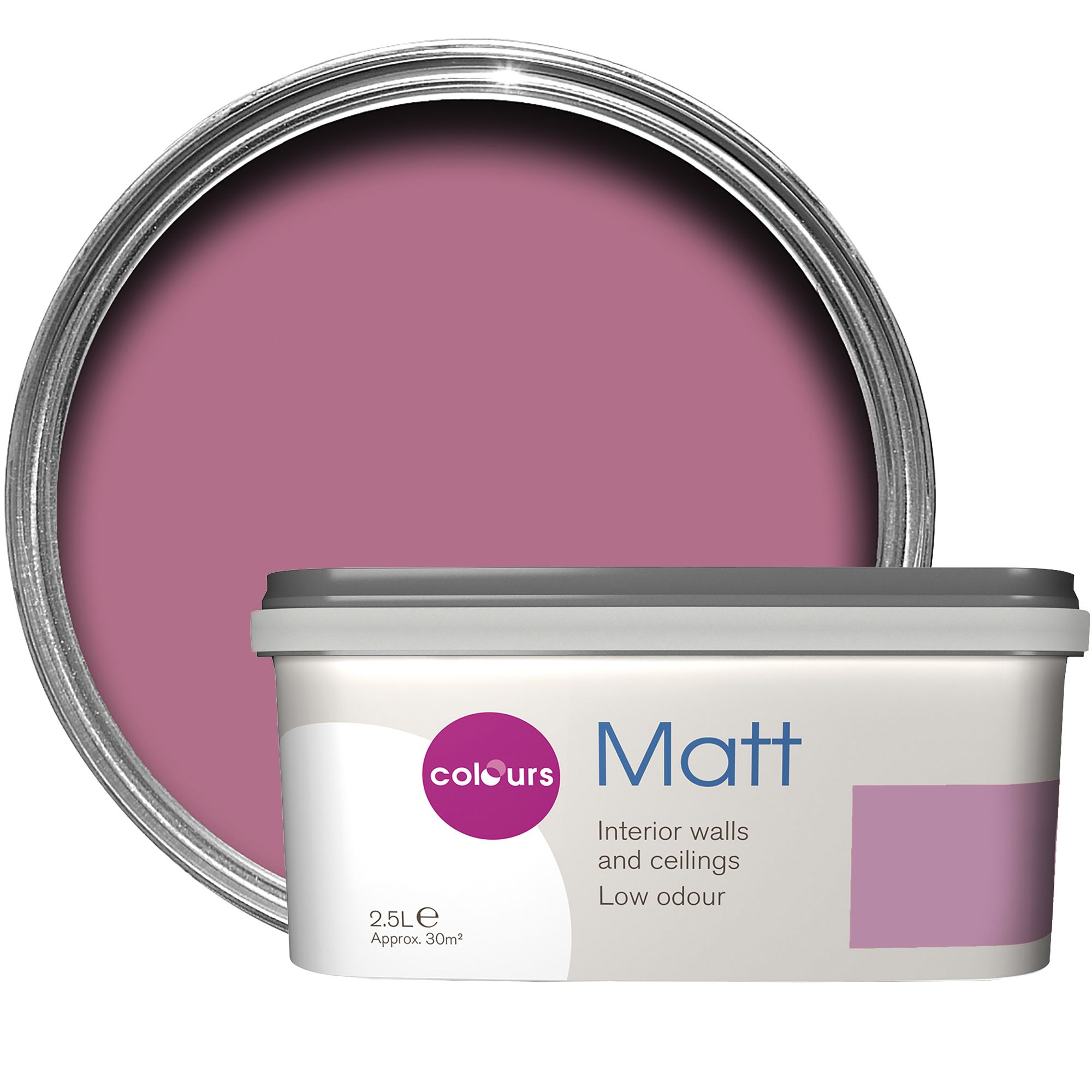 Colours standard princess matt emulsion paint 2 5l for B q bedroom furniture sets