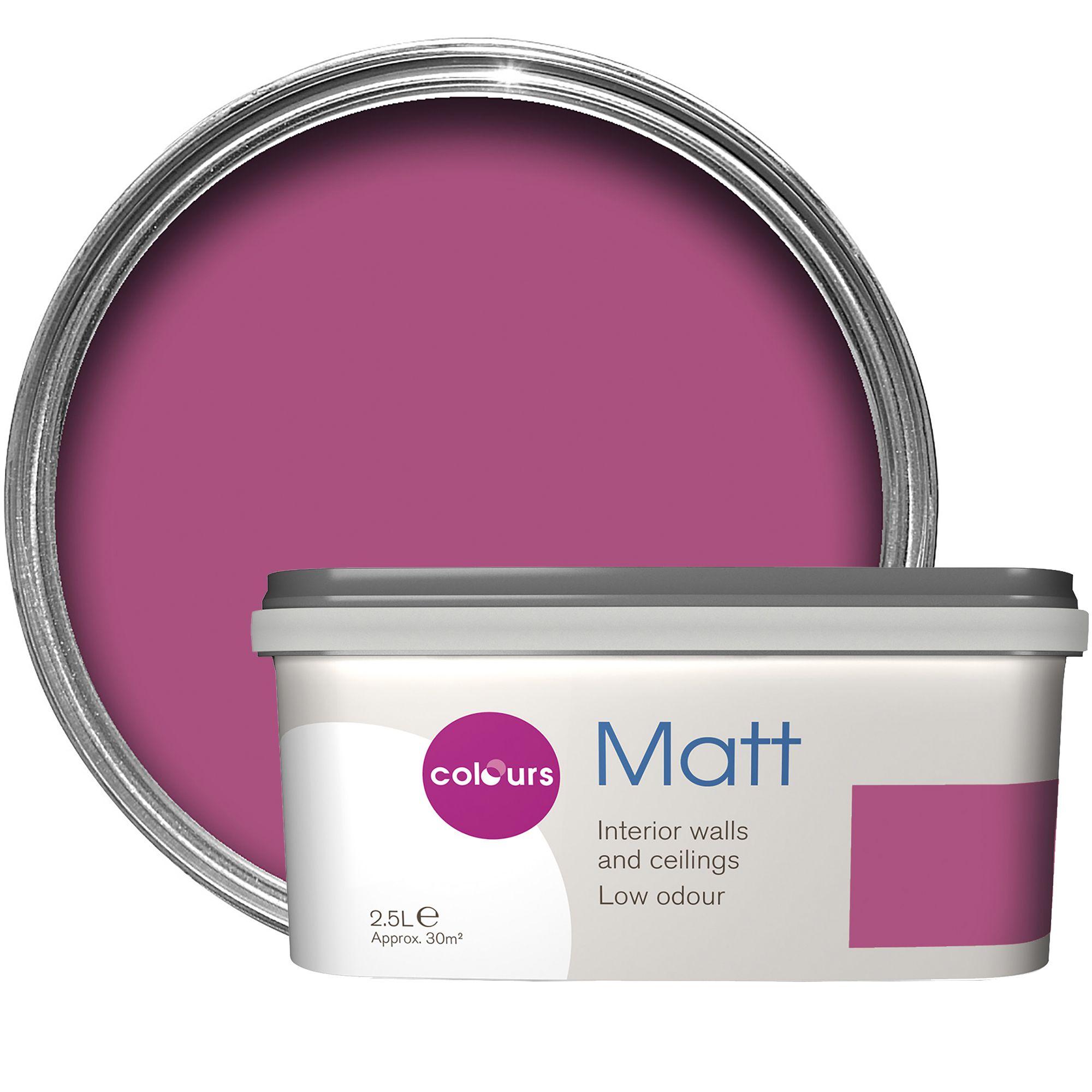 Colours standard playful pink matt emulsion paint 2 5l departments diy at b q - Matt exterior paint image ...