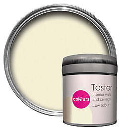 Colours Milky white Matt Emulsion paint 0.05L Tester