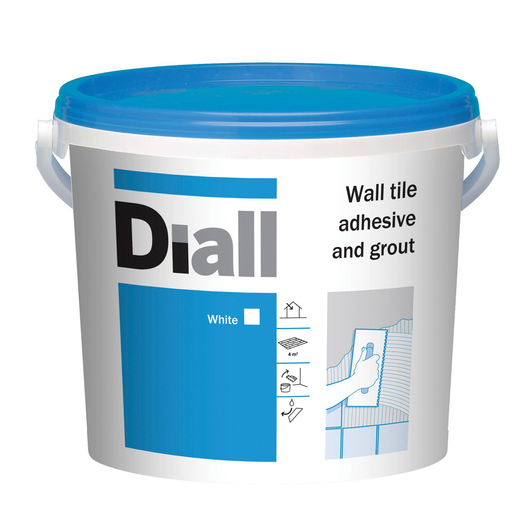 Diall Ready to Use Wall Tile Adhesive & Grout, White 6.6kg ...