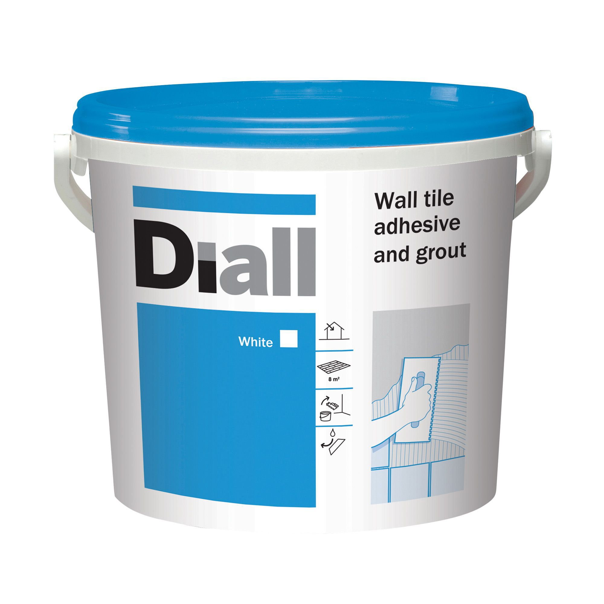 Diall Ready to use Wall tile adhesive & grout, White 13.1kg ...