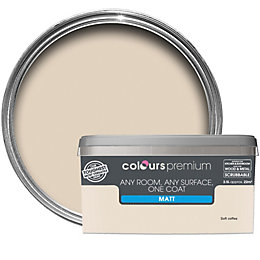 Colours Premium Soft Coffee Matt Emulsion Paint 2.5L