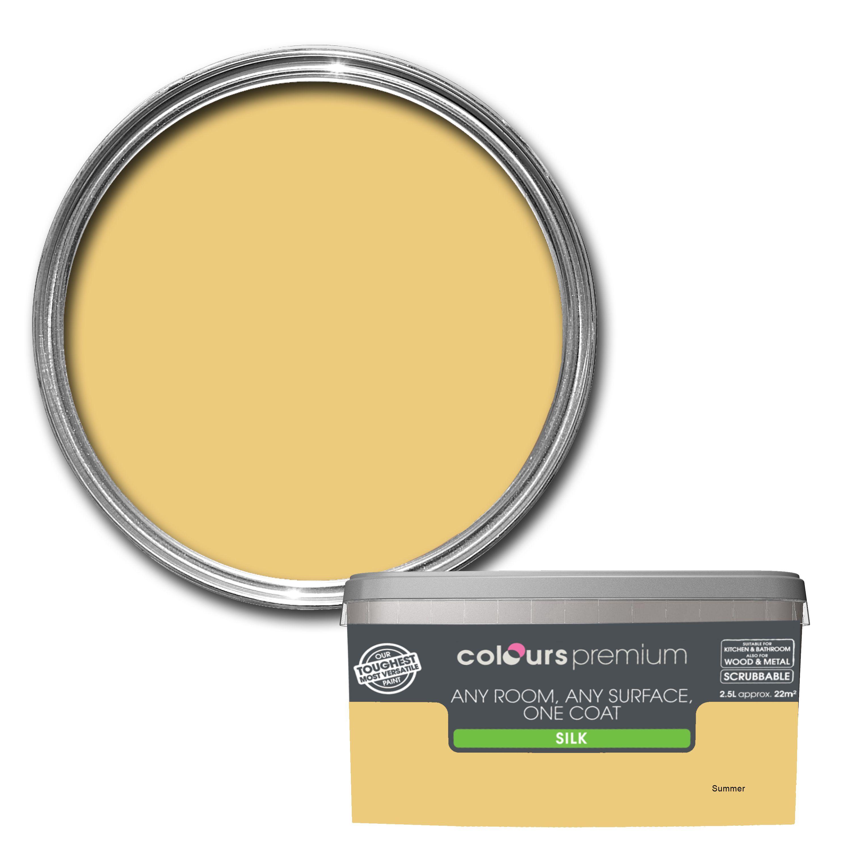 Colours Premium Summer Silk Emulsion paint 2.5L ...