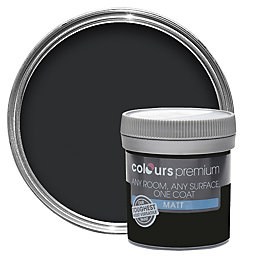 Colours Premium Black Matt Emulsion paint 0.05 L