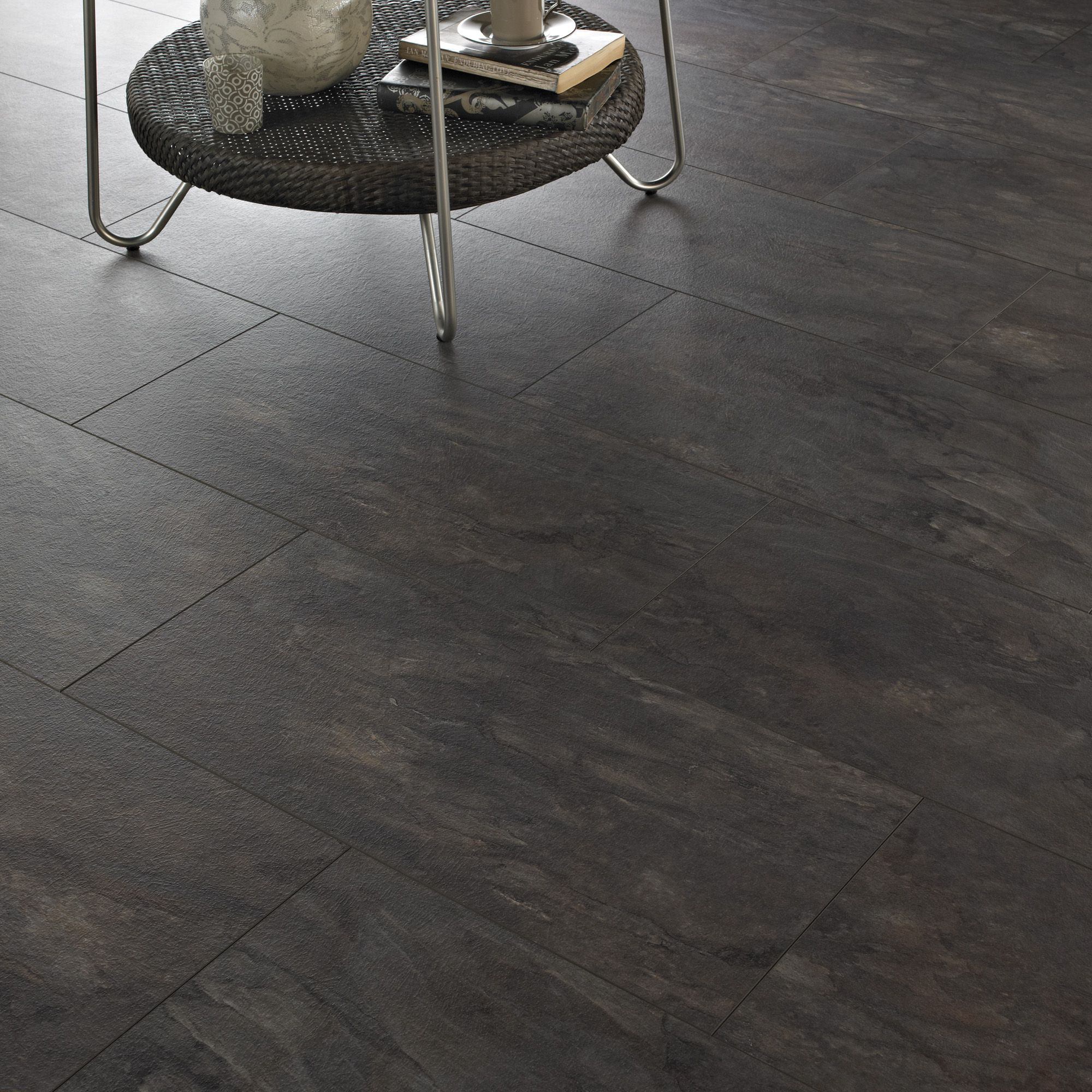 Intermezzo Grey Slate effect Laminate flooring 2.05 m² Pack ...
