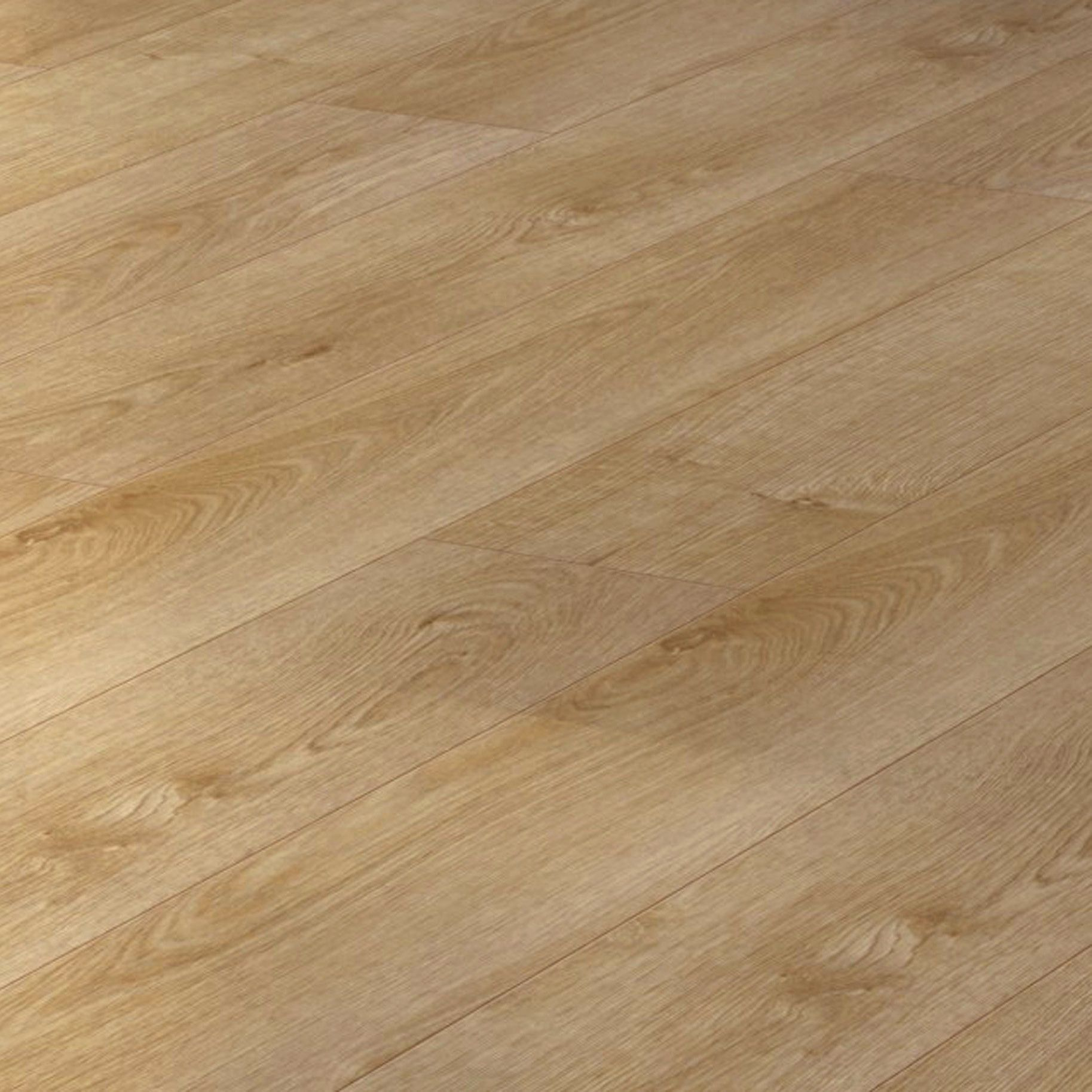 Overture Natural Milano Oak Effect Laminate Flooring 1.25 m Pack |  Departments | DIY at B&Q.