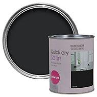 Colours Black Satin Emulsion paint 0.75L
